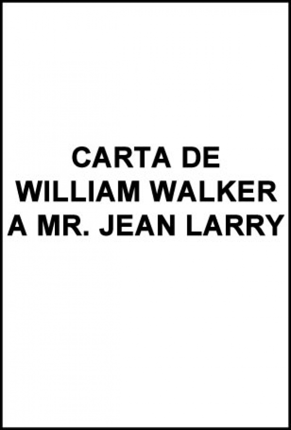 Carta a Mr. Jean Larry